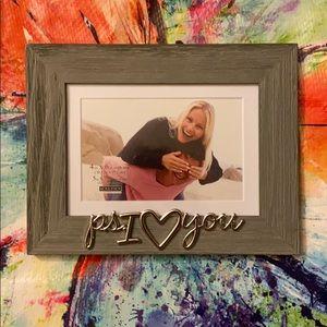 "Malden P.S. I Heart/Love You 4""x6"" or 5""×7"" Frame"